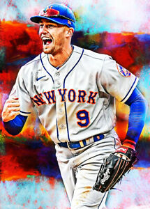 2021 Brandon Nimmo New York Mets 8/25 Art ACEO Print Card By:Q
