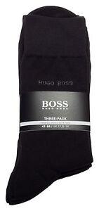 BOSS-Chaussettes-3er-Pack-Paquet-de-trois-par-Hugo-Boss-COTON-FIN-DOUX-Cotton