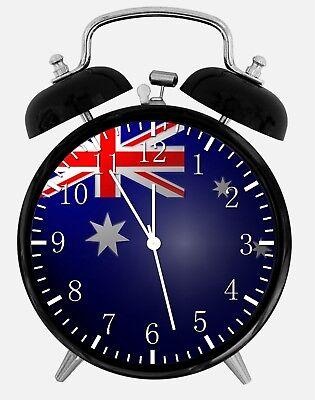 "Actief Flag Of Australia Alarm Desk Clock 3.75"" Home Or Office Decor Z131 Nice For Gift Rijk En Prachtig"