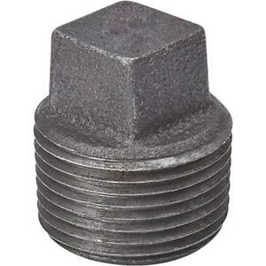 """LOT OF 10 3//8/"""" BLACK MALLEABLE IRON PLUG fitting pipe npt"""