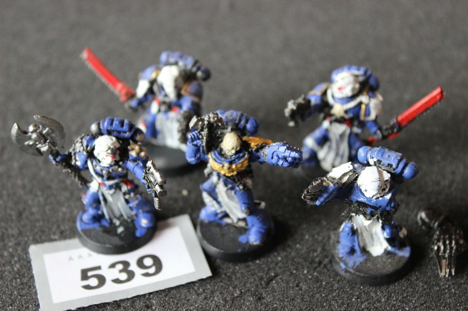 Games Workshop Warhammer 40k Space Marines Veterans Sergeants Squad Metal OOP B2