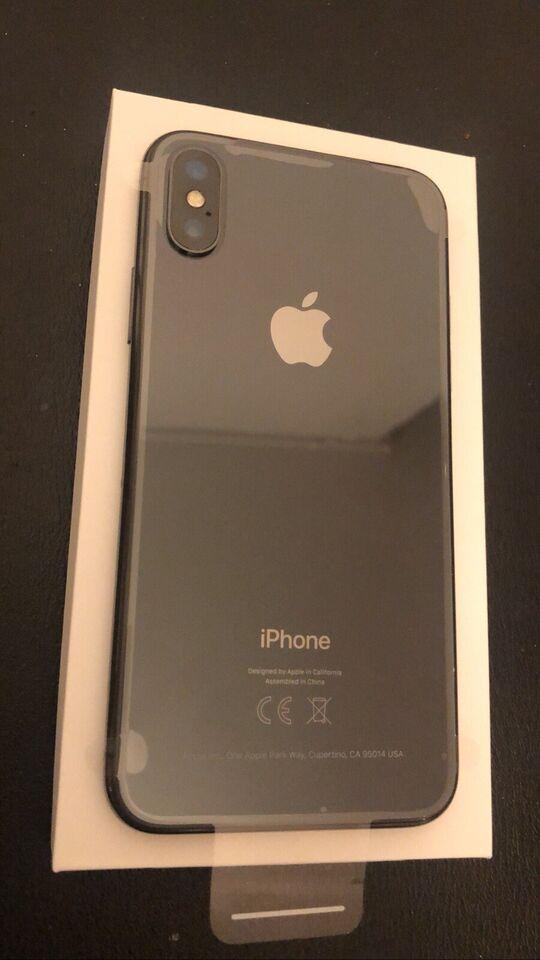 iPhone X, 256 GB, sort
