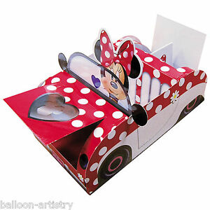 21cm-Disney-Minnie-Mouse-Polka-Dot-Car-Children-039-s-Party-Food-Serving-Tray