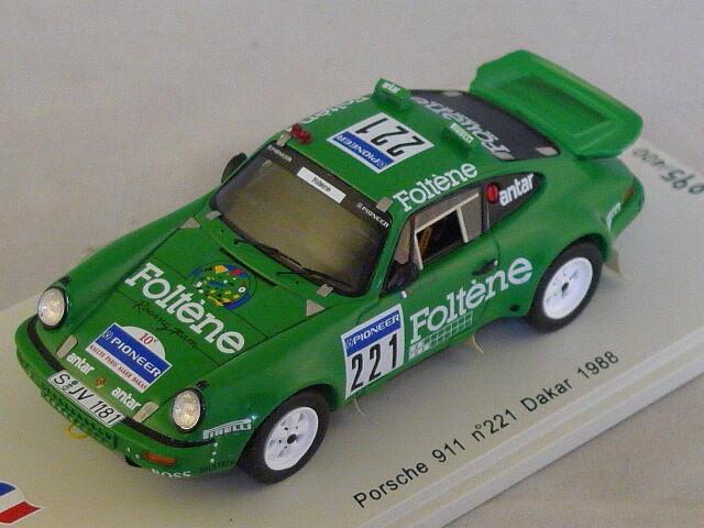 Spark SF035 - PORSCHE 911 n 221 Dakar 1988 Jabouille - Levent 500ex 1/43
