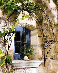 New Horchow French English Iron Black Garden Arch Lattice Trellis Decor Grille Ebay