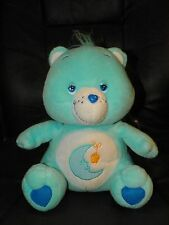 "2003 CARE BEAR Bears 10.5"" Plush Moon Bed Time"