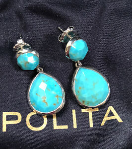 Image Is Loading Ippolita New Rock Candy Sterling Silver Turquoise Earrings