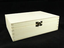 Plain Wood Tea Box Storage Trinkets Decoupage Craft
