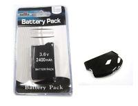 Psp 2000 (slim) Replacement Battery Pack 3.6v 2400 Mah + Black Battery Cover Set