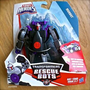 Transformers-RESCUE-BOTS-MORBOT-Race-Car-PLAYSKOOL-HEROES-Hasbro-NEW-Bad-Robot