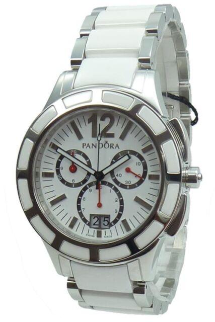 Genuine Pandora Watch Imagine Grand C Silver/White with Ceramic Bezel - 811002WH