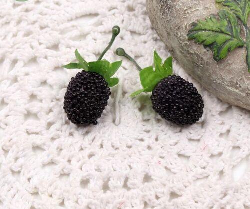 Handmade Strawberry Artificial Flower Diy Wreath Berry Home Room Accessory 10pcs