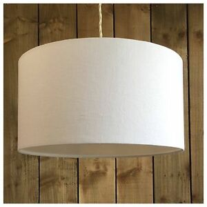 100 white linen fabric drum light shade diffuser modern ceiling image is loading 100 white linen fabric drum light shade amp aloadofball Images