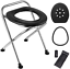 Details about  /Lifei Portable Camping Toilet Seat Folding Travel Toilet Commode Chair With Lid,