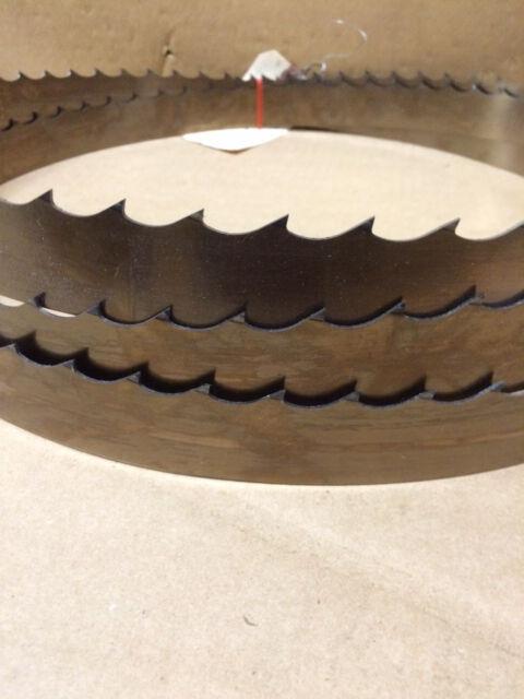 "QTY 1 Wood Mizer Bandsaw Blade 105/"" x 1-1//4/"" x 042 x 7//8 10°"