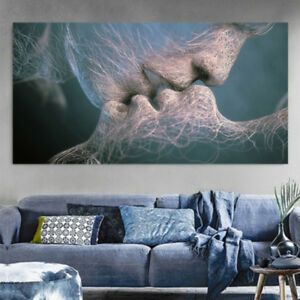 Image Is Loading EP Abstract Wall Art Canvas Painting Love Kiss
