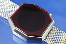 Modern Gents Large Chunky 1970s Vintage Style Digital Red LED Watch 12&24 hour