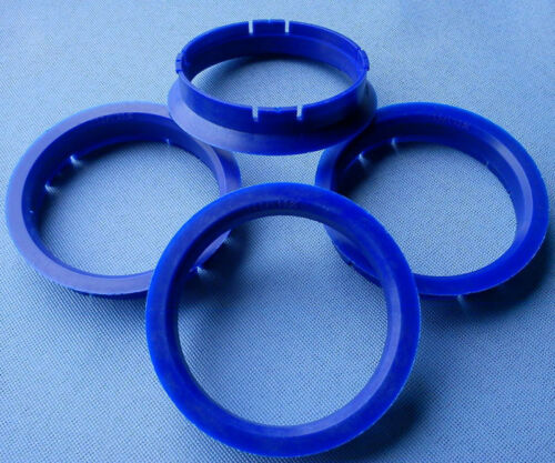 4 Piezas Anillas de centrado 64,0 mm 59,1 mm azul oscuro para llantas de aluminio r08