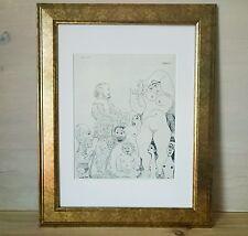 Pablo Picasso - ORIGINAL VINTAGE ART - 1970 Grabado Suite 347 - Print Etching #8