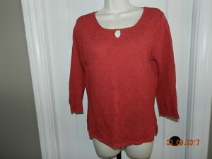 EUC women's Talbots red cotton sweater - size S Small | eBay