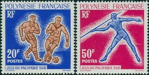 French-Polynesia-1962-Sc-203-204-SG28-29-South-Pacific-Games-Suva-set-MNH