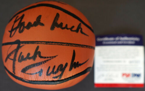 HOFer JACK TWYMAN Signed Basketball Toy Plush Auto PSA/DNA Certified Autograph
