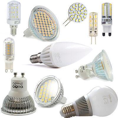 LED SMD GU10 GU5,3 MR16 E14 E27 G9 Lampe Licht Light Spot Strahler Birne Kerze