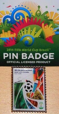 Pin + Plakat Motiv 2 + 2014 FIFA World Cup Brazil + 3,0x2,5 cm + OVP Lizenz #14