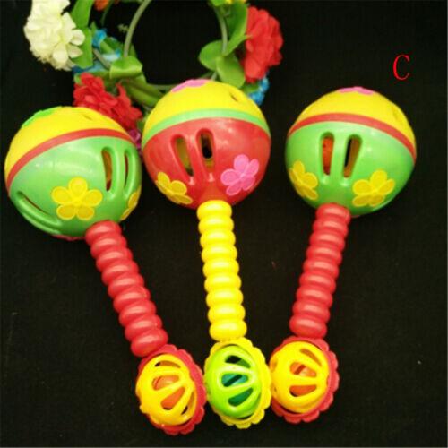 Plastic Cartoon Baby Hand Bell Rattles Music Gift For Newborns Children Toys ZYU