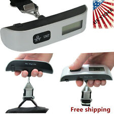 Portable 50kg Electronic Hanging Fishing Digital Pocket Luggage Hook Scale @U