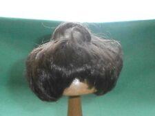 "Peluca De Muñeca marrón oscuro 6,5"" a 7"" corte de pelo corto"