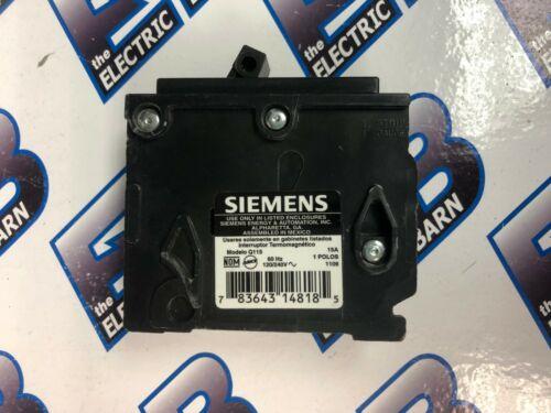 Siemens//ITE Q115 WARRANTY 1 Pole 15 Amp 120 Volt Plug In Circuit Breaker