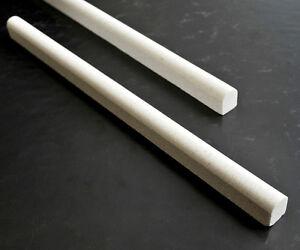 "1//2/"" X 12/"" Dark Fume Polished Marble Chair Rail Pencil Profile Wall Trim Kitchen"