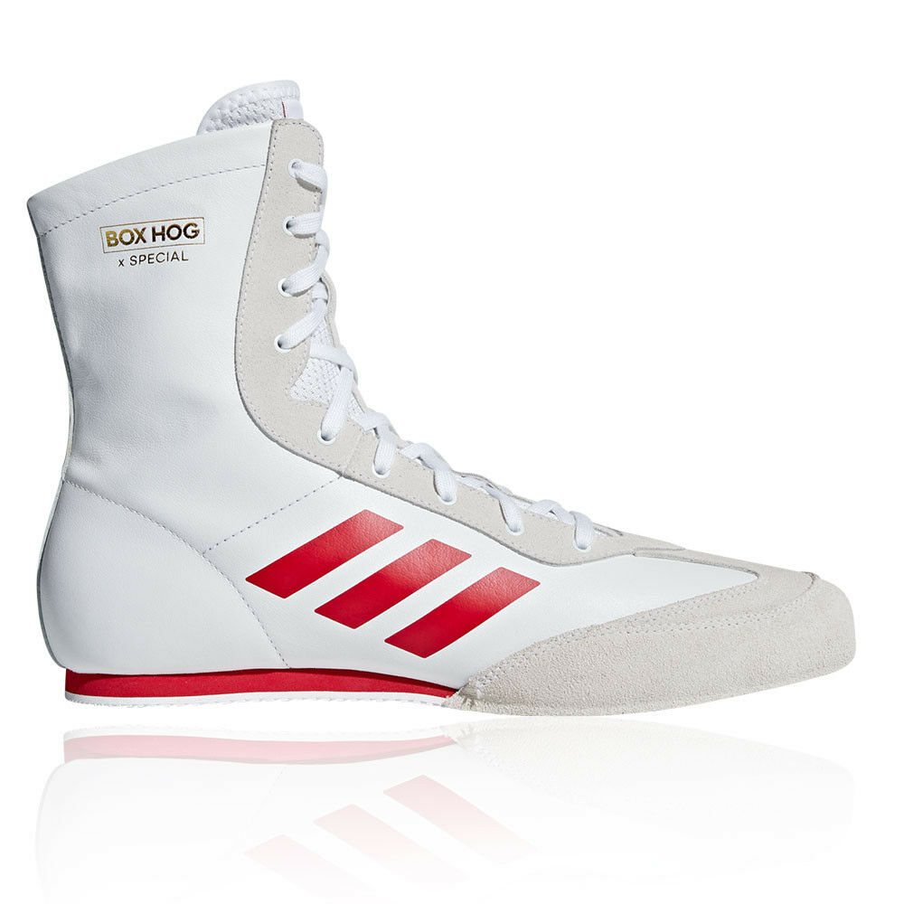 Adidas Mens Box Hog X Special Boxing shoes White Sports Lightweight