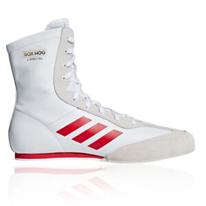Adidas Mens Box Hog X Special Boxing Shoes White Sports Lightweight by Adidas