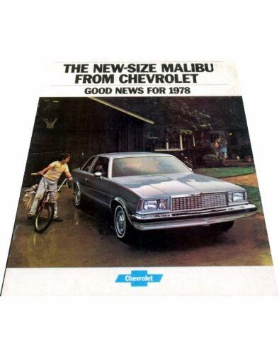 1978 Chevrolet Malibu and Classic 16-page Original Car Sales Brochure Catalog