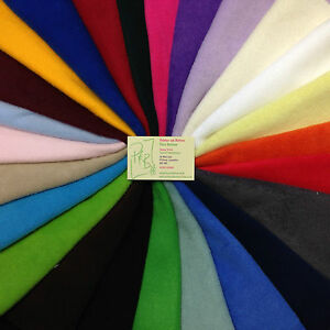 Polar-Fleece-Fabric-antipil-25-Colours-Fat-Quarter-50x56cm-Meter-100x150cm