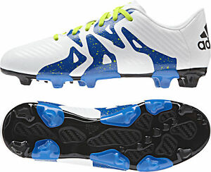 405e4798cae1 Adidas X 15.3 Firm Ground / AG Junior Football Boots - White | eBay