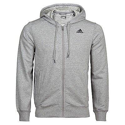 Adidas – FELPA UOMO CON CAPPUCCIO – ESS MID FZ HOOD FT – TG M- art. S17969