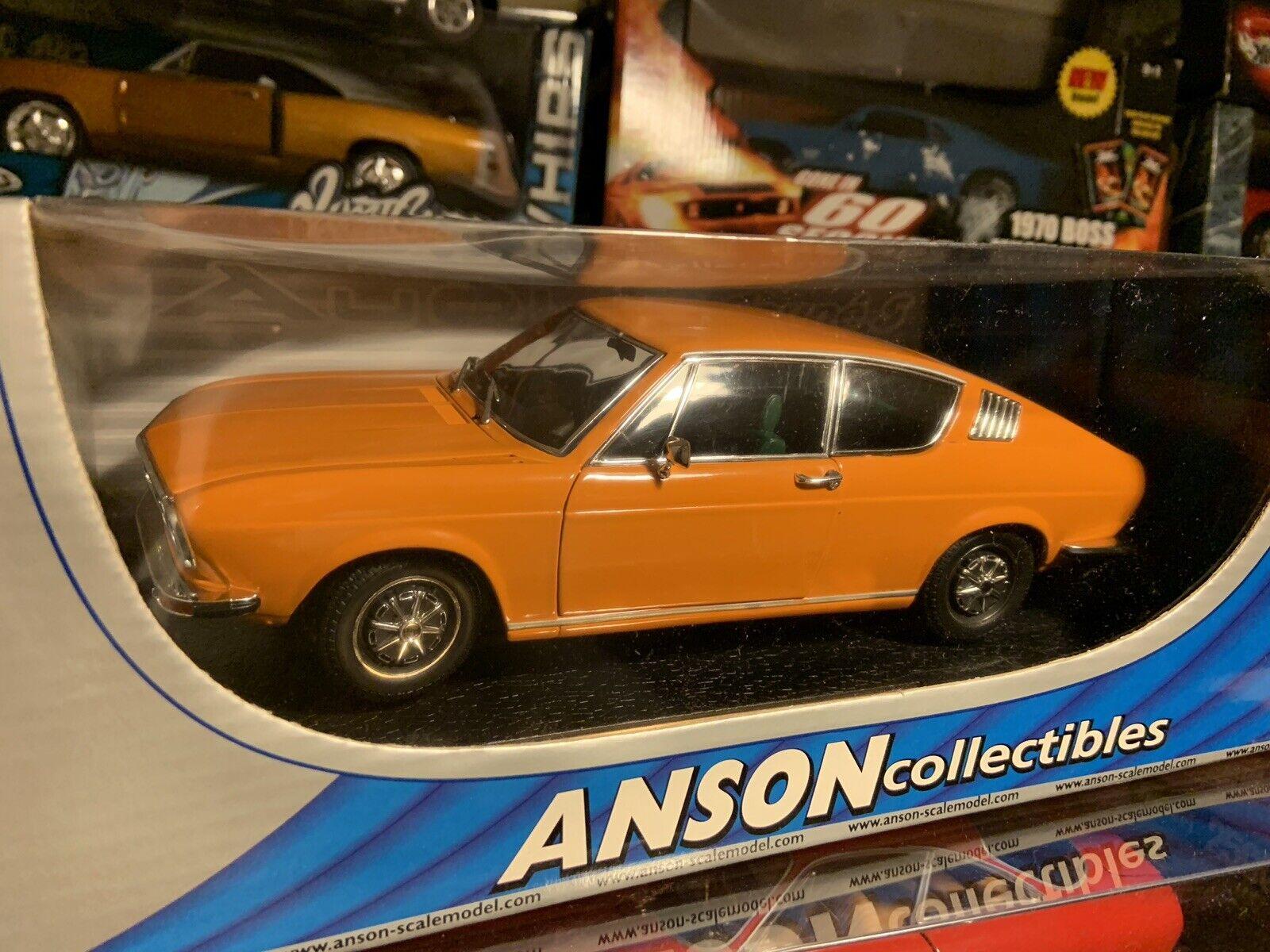 Anson 1 18 Scale Diecast - 30402 Audi 100 Coupe S orange Model Car....Rare