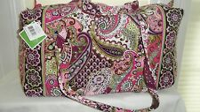 Vera Bradley Large Duffel VERY BERRY PAISLEY NWT Travel,College,Luggage Washable