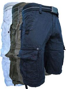 Pantaloni-Corti-Shorts-Uomo-TOP-STAR-Bermuda-Cargo-Taglia-42-44-46-48-50-52-54