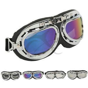 Scooter Off-road Aviator Pilot Cruiser Goggles Ski Rode Helmet Eyewear Glasses