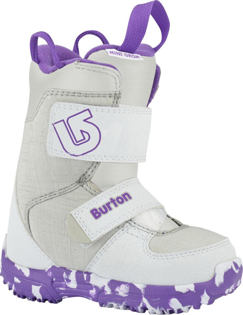 BURTON Snowboard Stiefel MINI GROM 2019 Weiß Weiß Weiß lila Kids SnowboardStiefel 0f8bc1