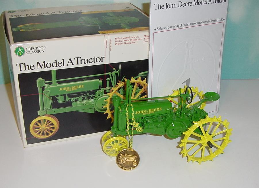 Livraison gratuite  1  16 JOHN DEERE A NARROW FRONT Precision  1 Tracteur avec boite  votre satisfaction est notre cible