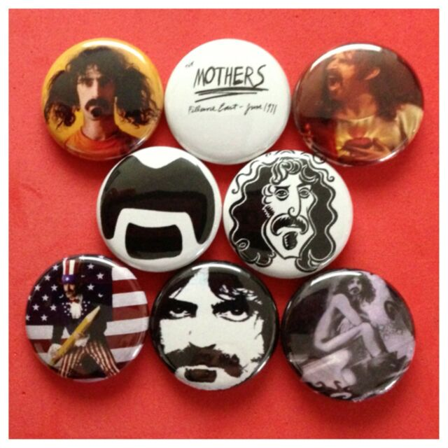 """FRANK ZAPPA 1"""" buttons pinbacks MOTHERS OF INVENTION"""