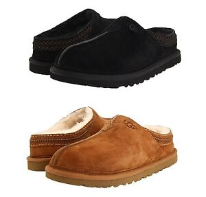1bb22f32440 Authentic UGG Mens Neuman Clog Slippers Shoes Black Chestnut 8 9 10 ...