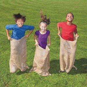 Potato Sack Race Bags Burlap Sacks 12-24x40 Burlap Bags Sandbags Gunny Sack