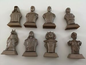 8-x-Star-Wars-Gold-Busts-Statuettes-From-Kellogg-039-s-Cereals-With-Scrolls