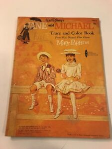 Disney Mary Poppins Jane And Michael Trace And Color Vintage ...